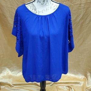NY Collection 2x blue blouse #931